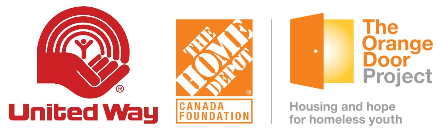 United way logo and Link, and Home Depot Logo