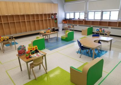 St. Gabriel Lalemant Toddler Program Room with Cubby Wall